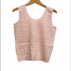 Real 90's Vintage Sleeveless knit Top Size M EUC